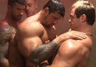 Zeb Atlas Threesome Sex with His Muscular Boyfriends